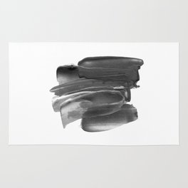 Lipstick Smudge black and white abstract painting poster design home wall art bedroom decor Rug