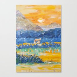 bears and mountains Canvas Print