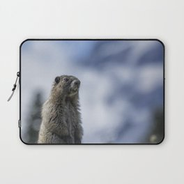 Marmot Checking Out His Neighborhood at Mount Rainier, No. 3 Laptop Sleeve