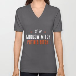 Moscow Mitch Traitor Unisex V-Neck