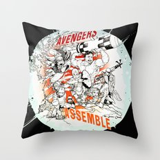 Earth's Mightiest Heroes Throw Pillow