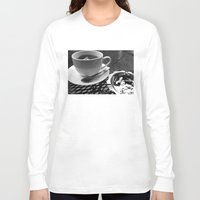 cafe Long Sleeve T-shirts featuring cafe by Emily Baker Photography and Design
