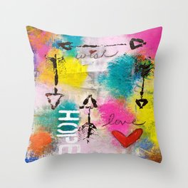 Wish Love Hope Throw Pillow