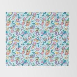 Magical Mermaids Throw Blanket