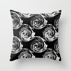 Abstract black and white pattern . Throw Pillow