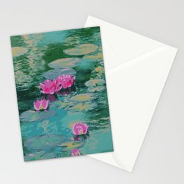 Lotus Floating On Lily Pads Stationery Cards