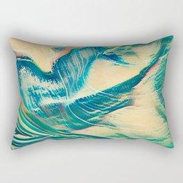 Sandy Waves Rectangular Pillow
