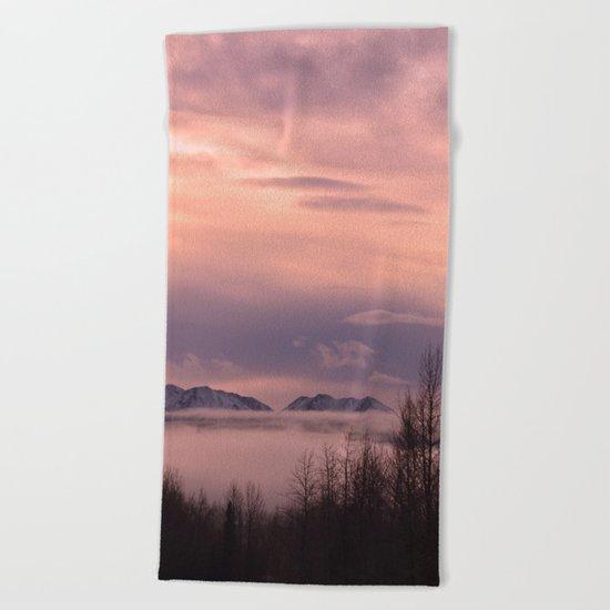 Rose Serenity Winter Fog - II Beach Towel