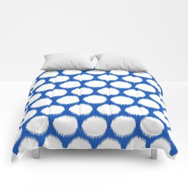 Sapphire Asian Moods Ikat Dots Comforters