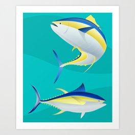 Ahi, Yellowfin Tuna, Vector Art Print