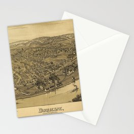 Aerial View of Duquesne, Allegheny County, Pennsylvania (1897) Stationery Cards