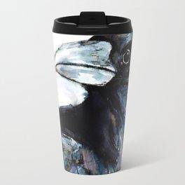Raven, Watercolor Travel Mug
