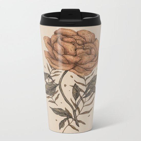 Peony and Ferns Metal Travel Mug