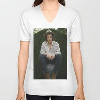 harry styles V-neck T-shirts featuring Harry Styles by behindthenoise