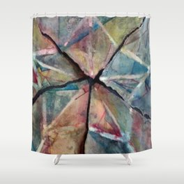 Ripped Apart Back Together Shower Curtain
