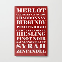 Wine Celebration - Red Metal Print