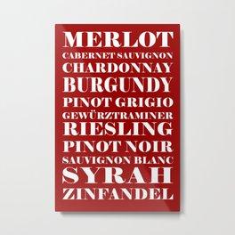 Wine Celebration - Red Metal Print
