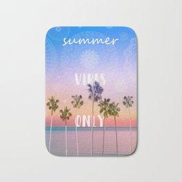 summer vibes only palm trees design Bath Mat
