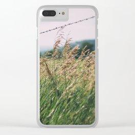 South Dakota Field 2 Clear iPhone Case