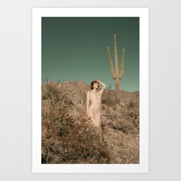 Make Like A Cactus And Get To The Point Art Print