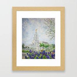 San Antonio Texas LDS Temple Framed Art Print