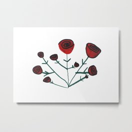 Little Artist Big Dreams: Roses Metal Print