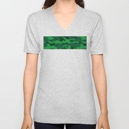 Forest Green Camo Unisex V-Neck