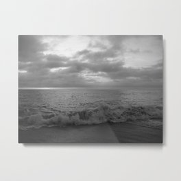 Black And White Vibes At The Beach Metal Print