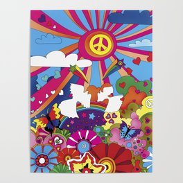 Woodstock- Peace Poster