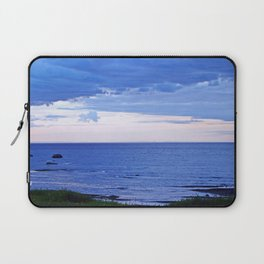 Blue on Blue at the River Mouth Laptop Sleeve