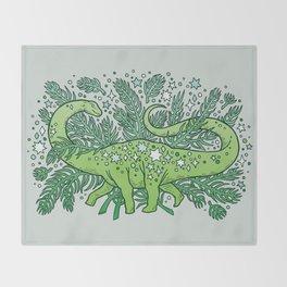 Winter Solstice Sauropod | Evergreens Palette Throw Blanket