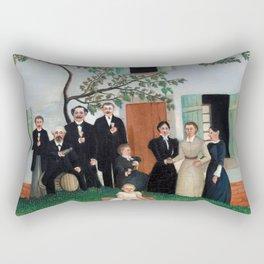 Henri Rousseau - The Family Rectangular Pillow