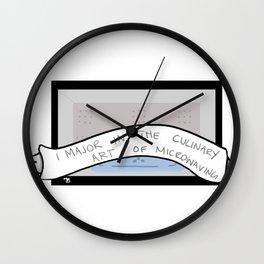 I Major in the Culinary Arts of Microwaving Wall Clock