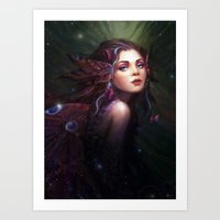 fairy Art Prints featuring Fairy  by Westling