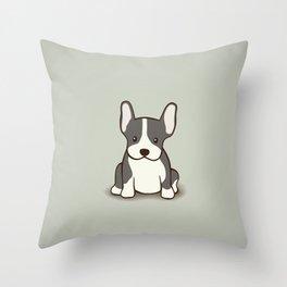 French Bulldog Dog Illustration Throw Pillow