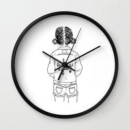 girl gang (black & white) Wall Clock