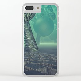 Utopia city Clear iPhone Case