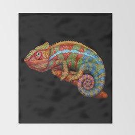 Chameleon 3 Throw Blanket