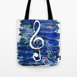 G clef or the sun key Tote Bag