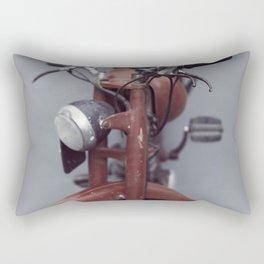 Motorcycle photography, old motorbike, man cave wall art, gift, mancave sign Rectangular Pillow