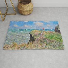 Claude Monet Cliff Walk At Pourville 1882 Rug