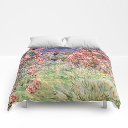 """Claude Monet """"House among the Roses"""", 1917 - 1919 Comforters"""
