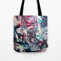 imagine Tote Bags featuring Imagine  by ART de Luna