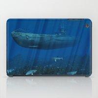 submarine iPad Cases featuring U99 Submarine by Simone Gatterwe