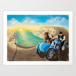 Riding with Rocco Art Print