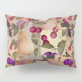 Old scraps of fabric with fruit . Pillow Sham
