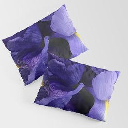 Purple Iris Flowers Close-Up Fine Art Photo Pillow Sham