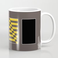 maryland Mugs featuring Maryland State Flag Deconstructed by booj