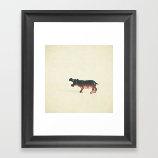 Hungry Hippo Framed Art Print