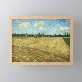 The Ploughed Field by Vincent van Gogh Framed Mini Art Print